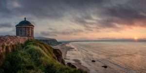 mussenden-Temple-Northern-Ireand-sunset-visit-portrush