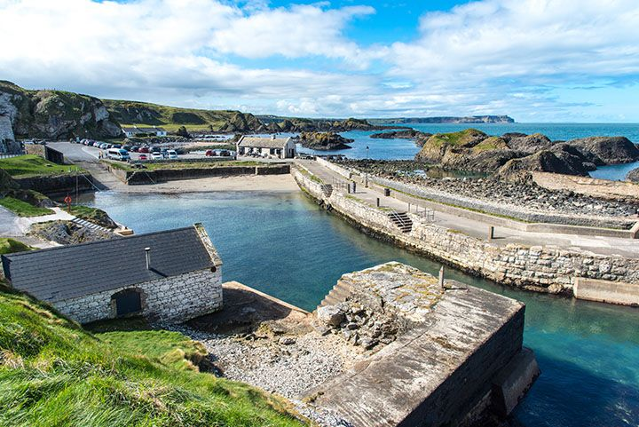 Ballintoy Harbour filming location of game of thrones