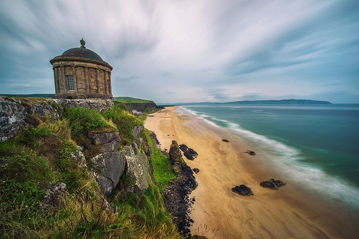 Downhill Beach Strand with Mussenden temple