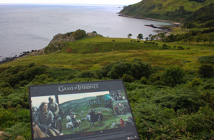 Game of Thrones filming board Murlough Bay