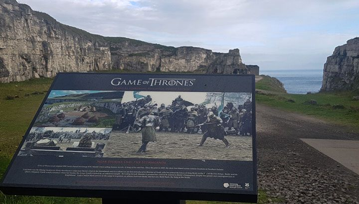 larrybane quarry film location board for Game of thrones