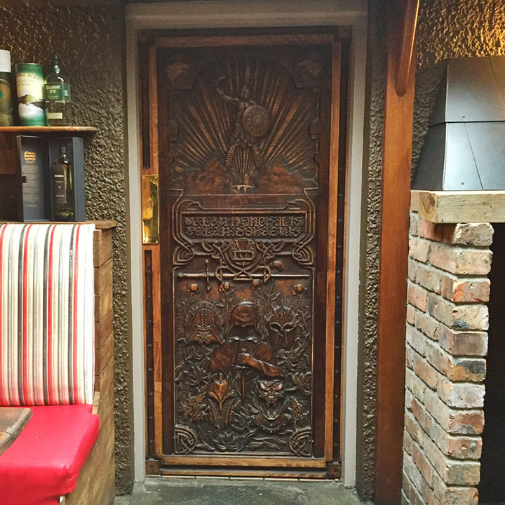 Mary McBrides Cushendun home to Door number 8 of the Game of thrones door of thrones