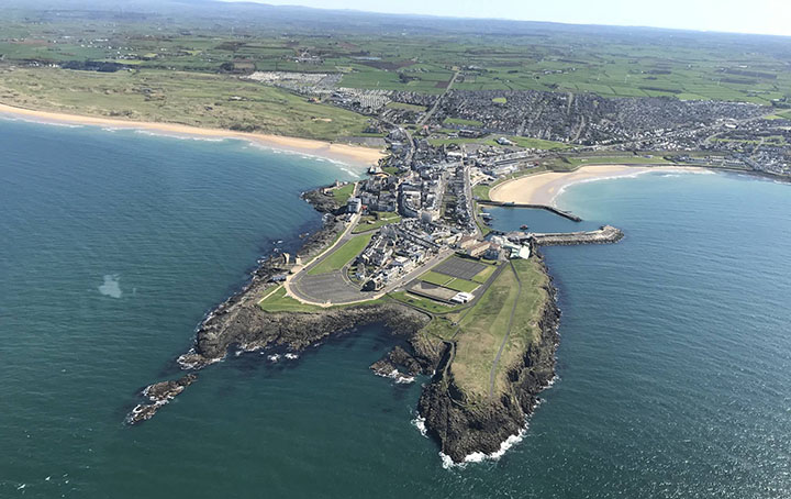 Aerial View of Ramore Head from PSNI Airsupport