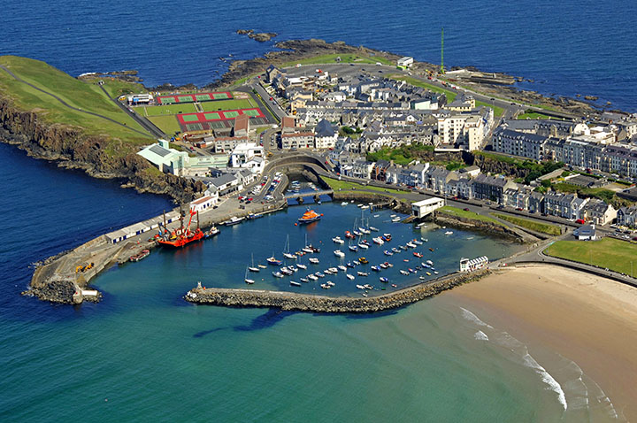 Portrush Harbour from the air