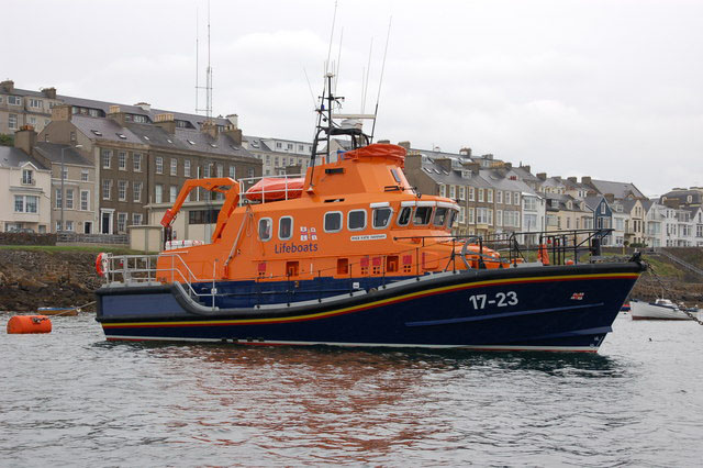 Portrush Lifeboat in the Harbour